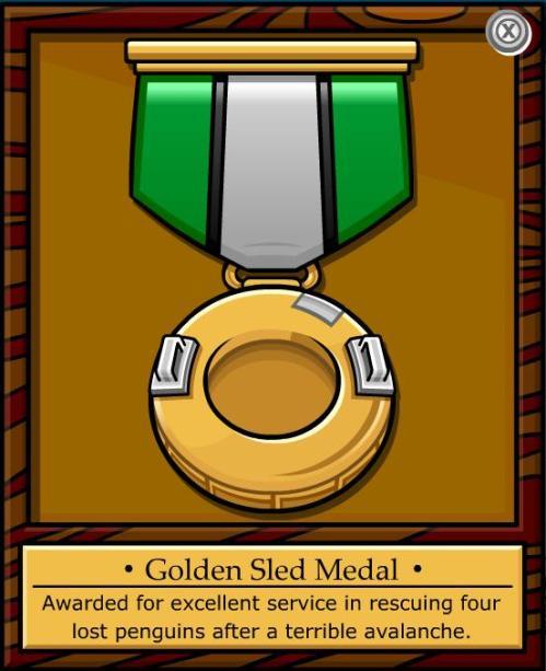 golden sledmedal