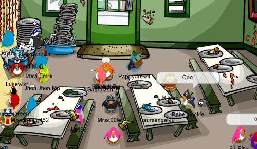 inside of the mess hall